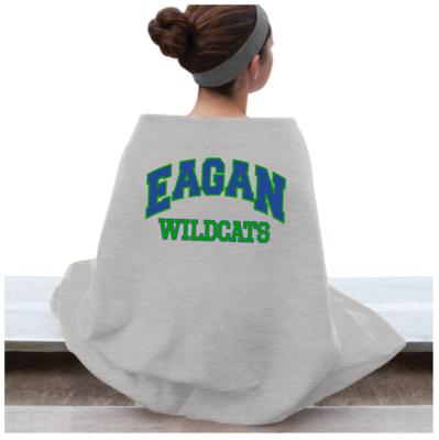 Eagan Wildcat Sweatshirt Blanket