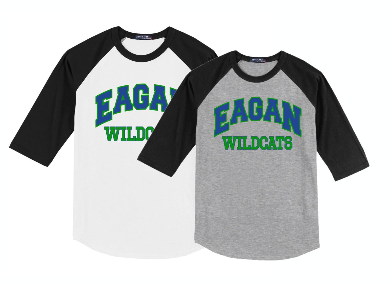 Eagan Wildcats Sport-Tek® Colorblock Raglan Jersey