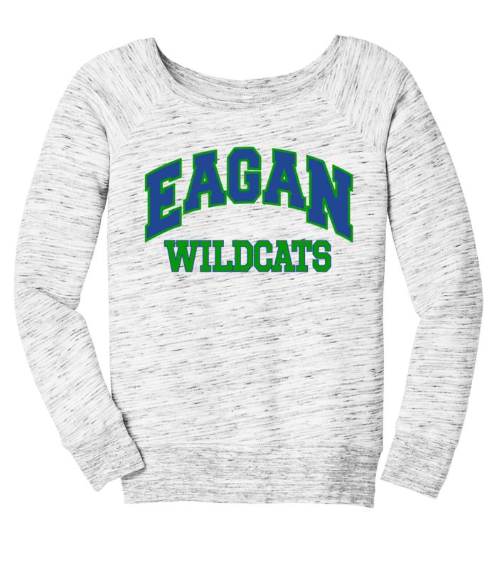 Eagan Wildcats BELLA+CANVAS Women's Wide-Neck Sweatshirt