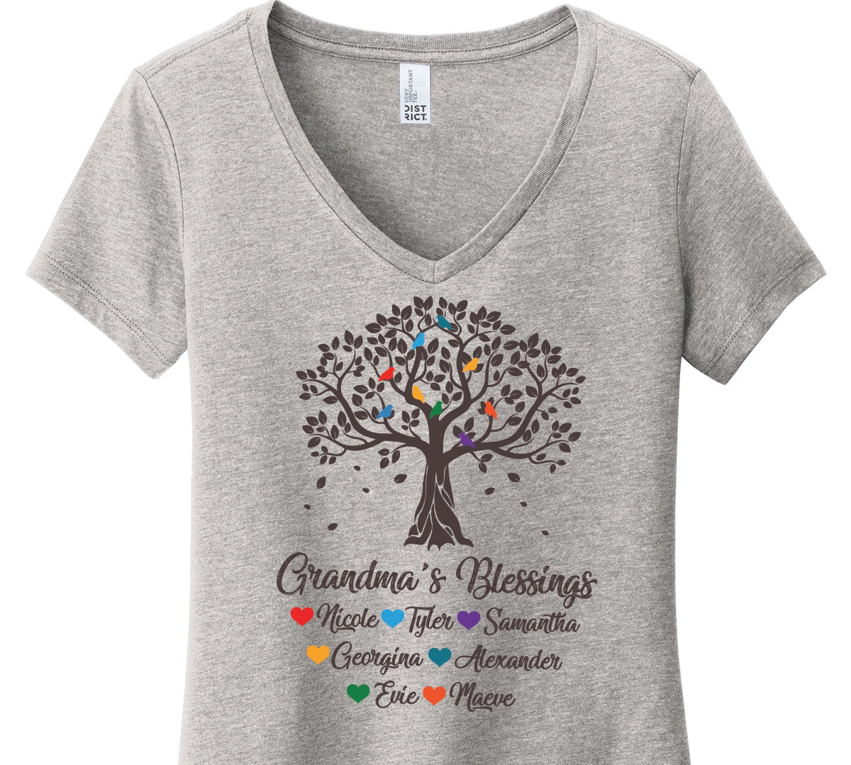 Grandma Tree Blessings Shirts with Grandkids Names