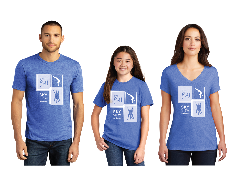 Triblend Crewneck/Neck Shirts - Skyview Acro Gym - New Logo
