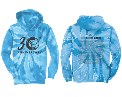 Tie-Dye Pullover Hoodie - Fort Collins Classic