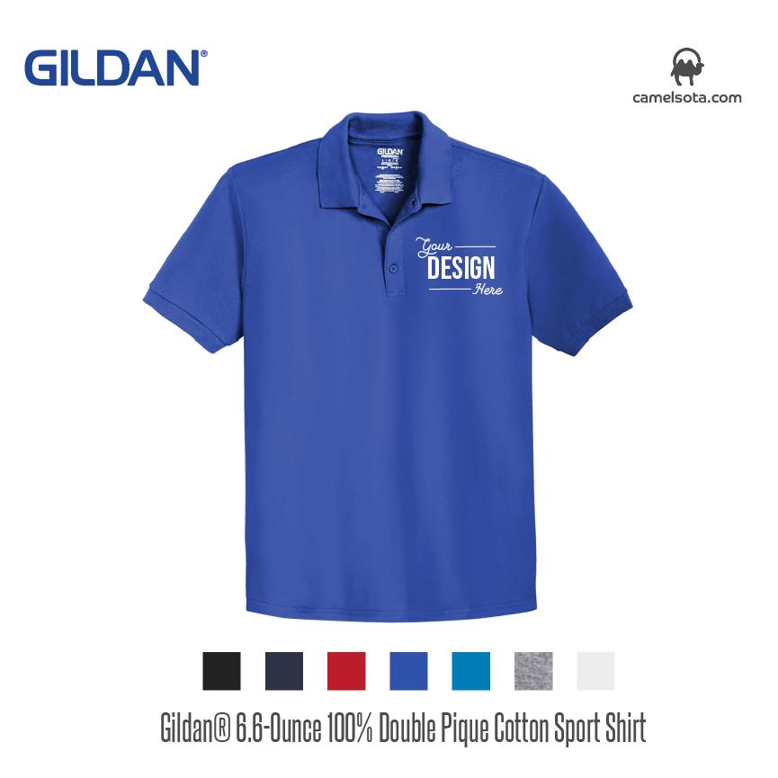 Gildan 6.6-Ounce 100% Double Pique Cotton Sport Shirt