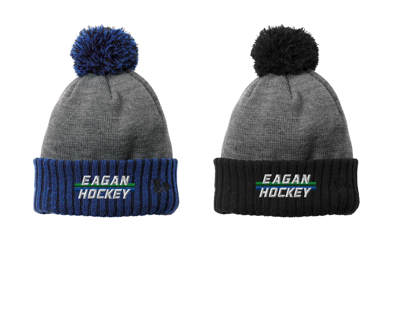 Eagan Hockey New Era Colorblock Cuffed Beanie