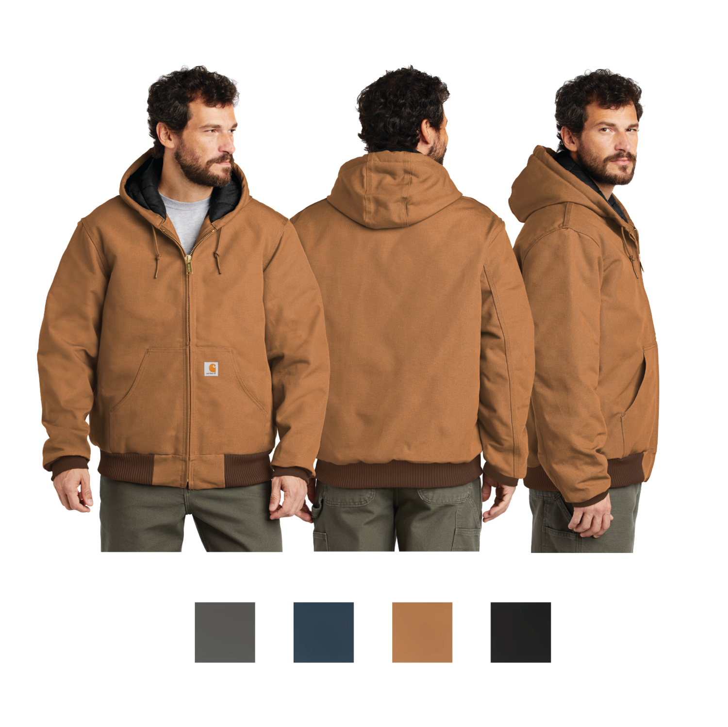 Carhartt Quilted-Flannel-Lined Duck Active Jacket - Regular and Tall