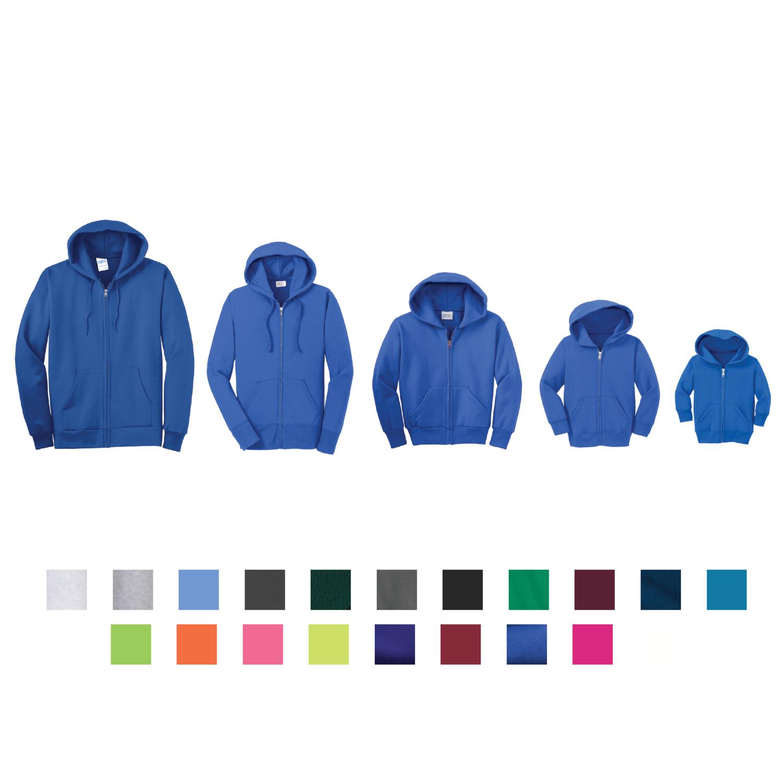 Port & Company - Core Fleece Full-Zip Hooded Sweatshirt