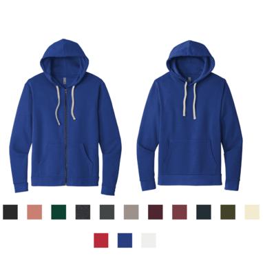 Next Level Unisex Beach Fleece Pullover/Full Zip Hoodie
