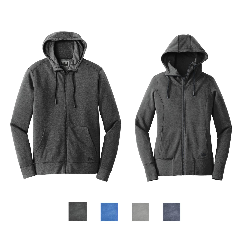 New Era Tri-Blend Full-Zip Hoodie