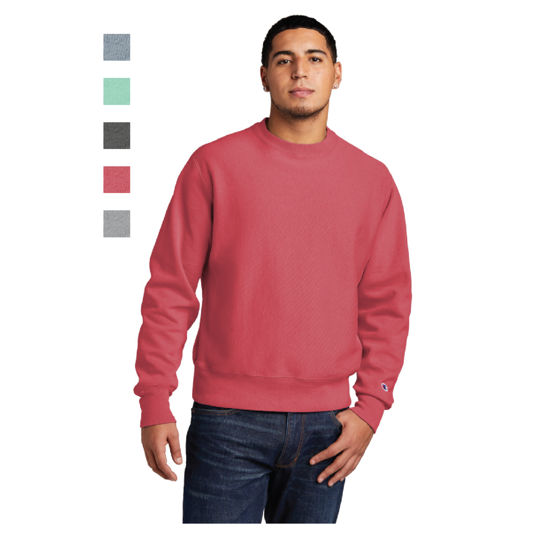 Champion Reverse Weave Garment-Dyed Crewneck Sweatshirt