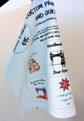 Custom Printed Fabric and Quilt Labels - 14