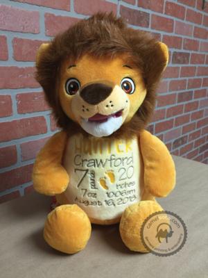 Custom Embroidered Lion Cubbie - Numbutu Lion