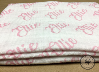 Custom Printed Double Gauze Baby Swaddle Blanket, 45