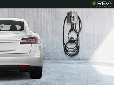 REV+ 50A Dual Home Electric Vehicle Charger with 25' Cable (Ships in September 2020)