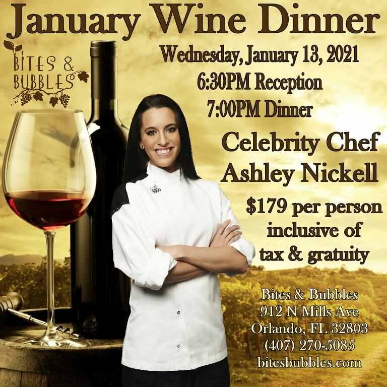 January Celebrity Wine Dinner