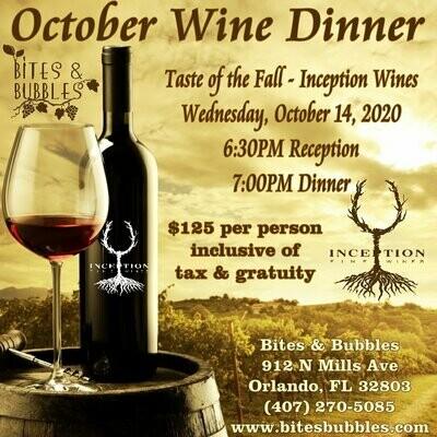 October Wine Dinner