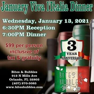 January Wine Dinner