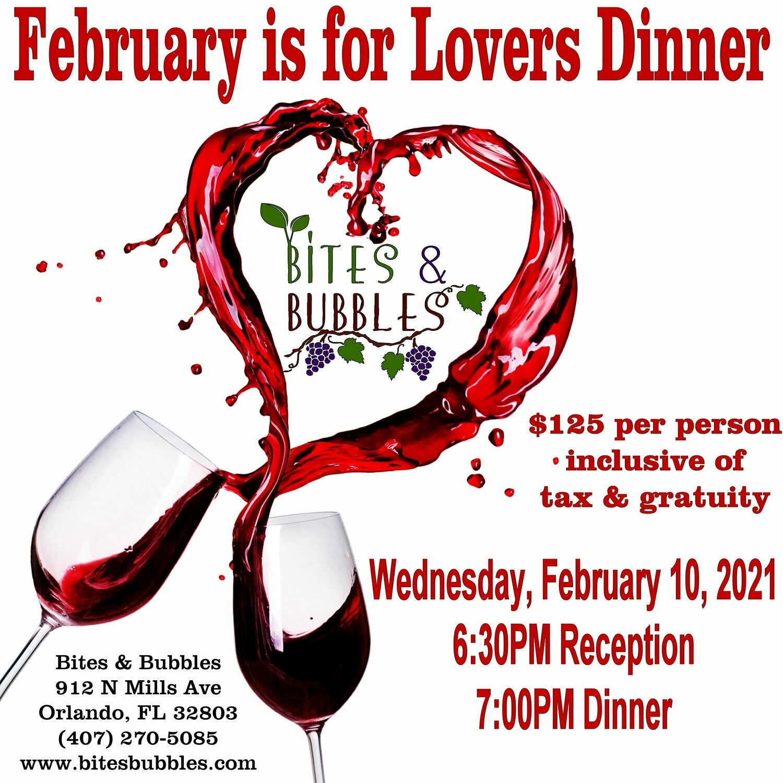 February is for Lovers Wine Dinner