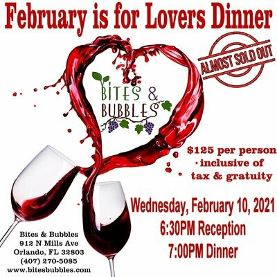 February is for Lovers Wine Dinner