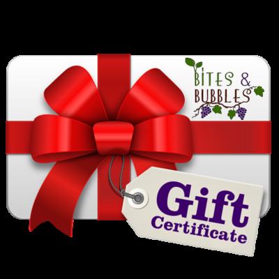 Bites & Bubbles Gift Certificate