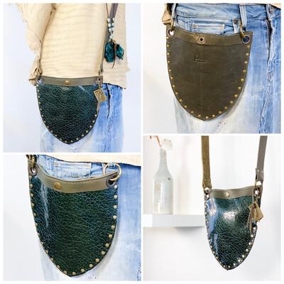 Boho Jeans bag Groen