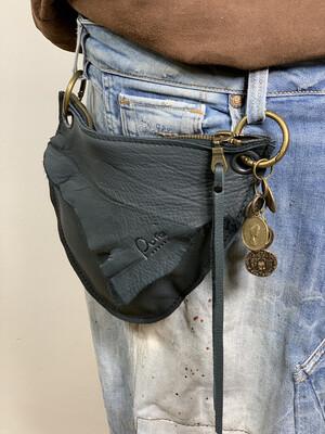 Click On Jeans Tasje  Antraciet ( 2 zijde te dragen )
