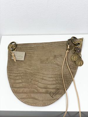 Click On Jeans Tasje  Taupe Met Print
