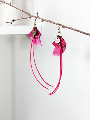 Oorbellen  Pink Roze