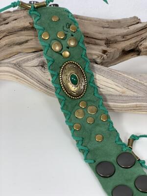 Armband Green Suède De Luxe