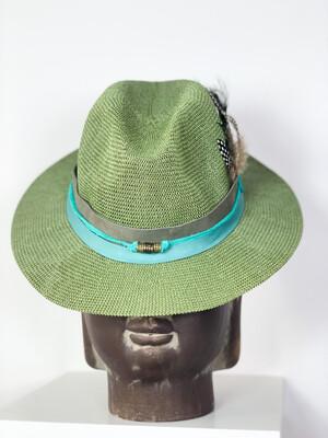Hoed Luxe Green Aqua