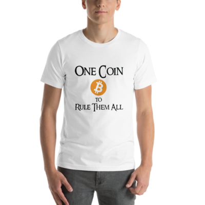 One Coin to Rule Them All - Black Lettering