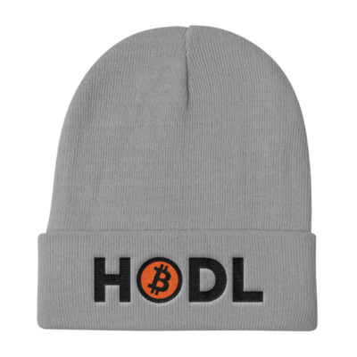 HOLD - Knit Beanie - Black Lettering
