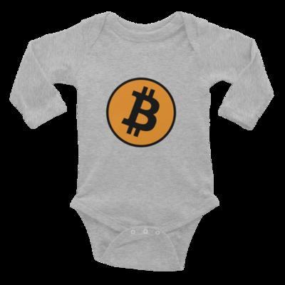 Infant Long Sleeve Bitcoin Bodysuit