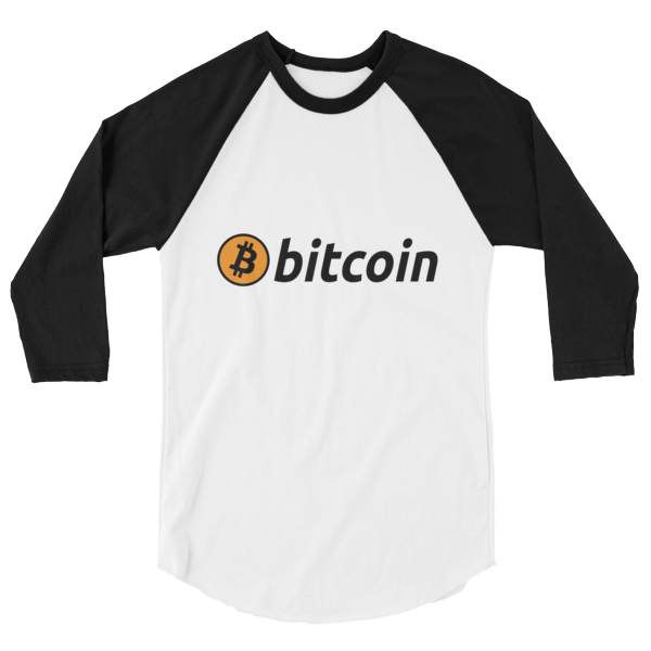 3/4 sleeve raglan shirt - Bitcoin