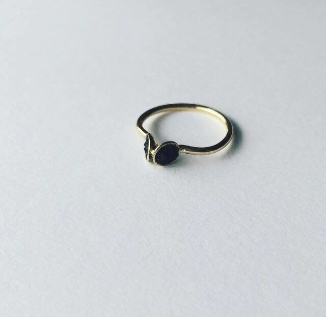 Brass and Coal ring.