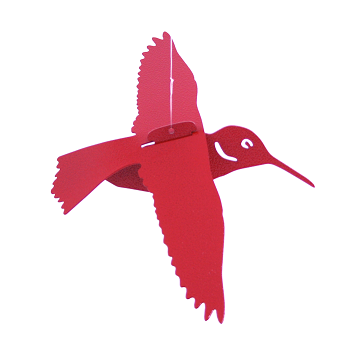 Red Floating Hummingbird