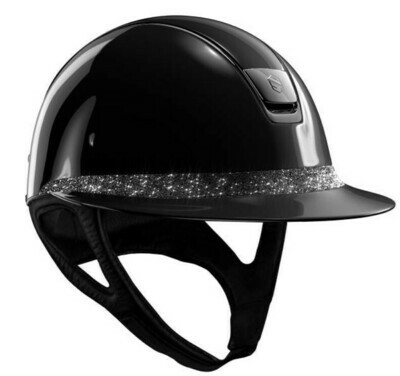 Casque MissShield Glossy Noir Frontal Band Crystal Fabric by SAMSHIELD