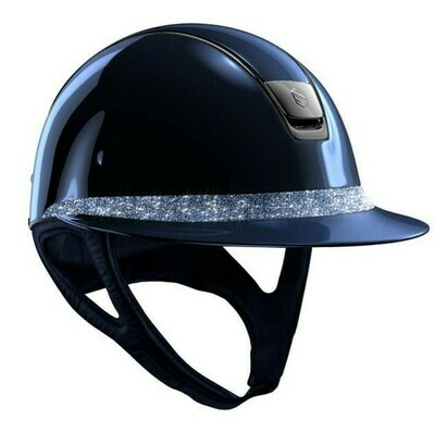 Casque MissShield Glossy Bleu Frontal Band Crystal Fabric by SAMSHIELD