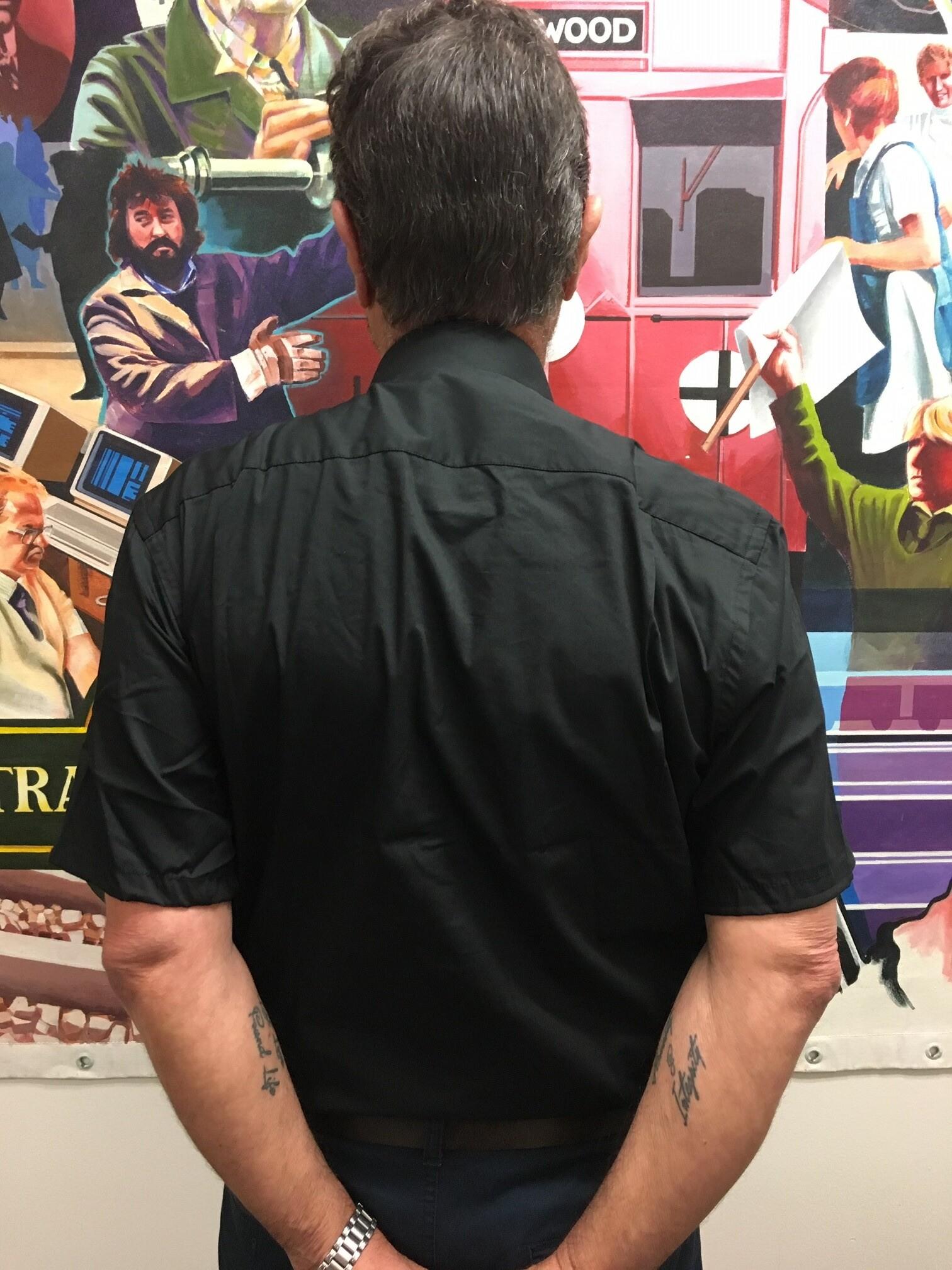 Men's Short Sleeve Business Shirt - Black