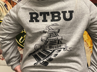 NEW Grey RTBU Fortune Pullover Hoodie