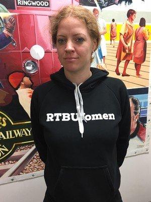 Black RTBU Women Pullover Hoodie
