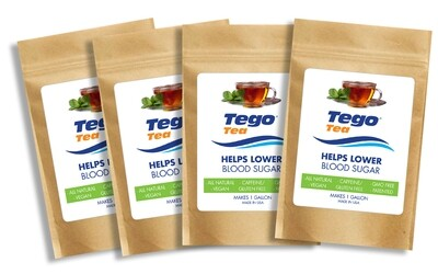 Tego Tea - Help Lower Blood Sugar  - 4 Pack - $25 each.