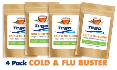 Tego Cold & Flu Buster - 4 pack
