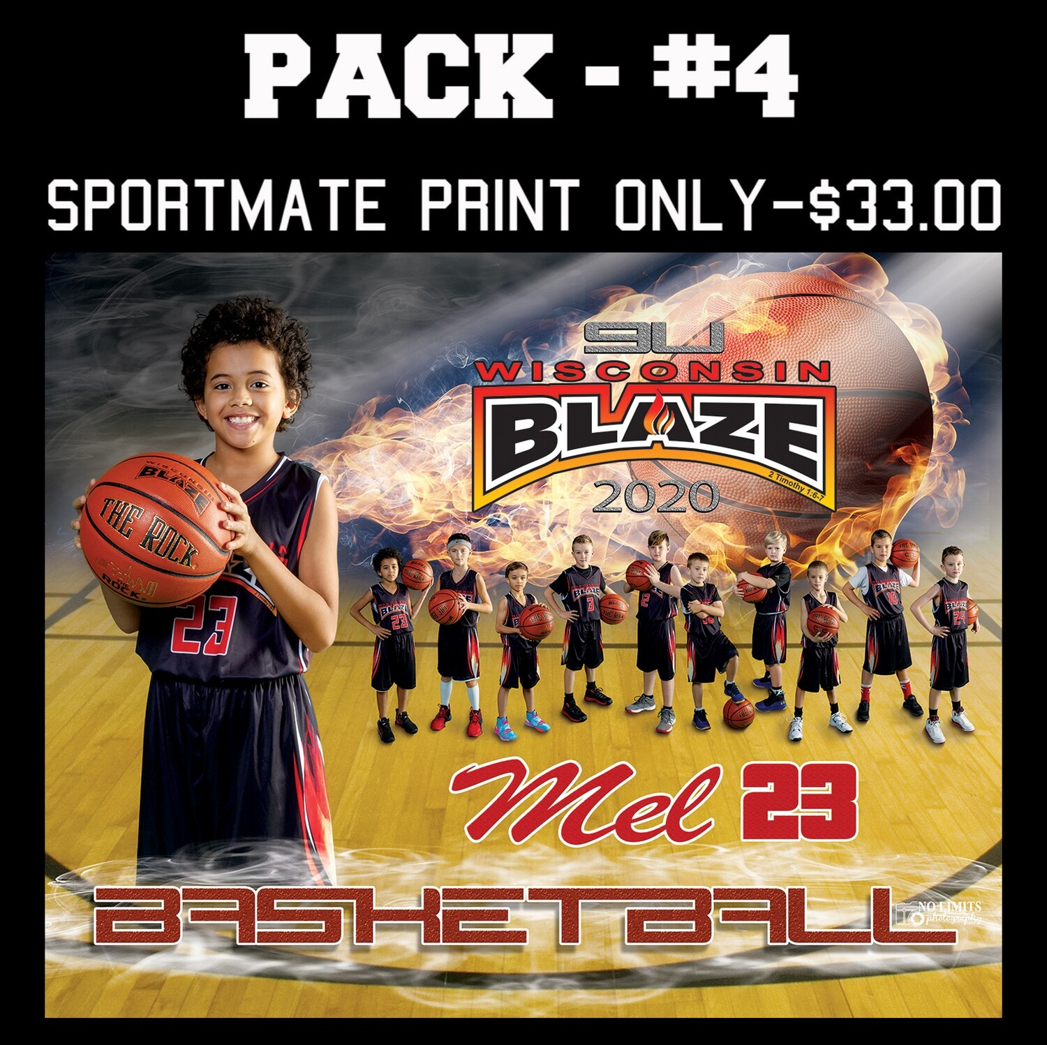 PACK #4 - 8X10 Sportmate Photo Print Only