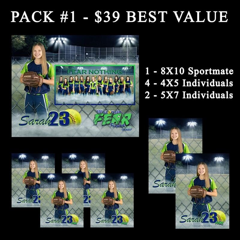 PACK #1 - **Best Value** 8x10 Sportmate Pack