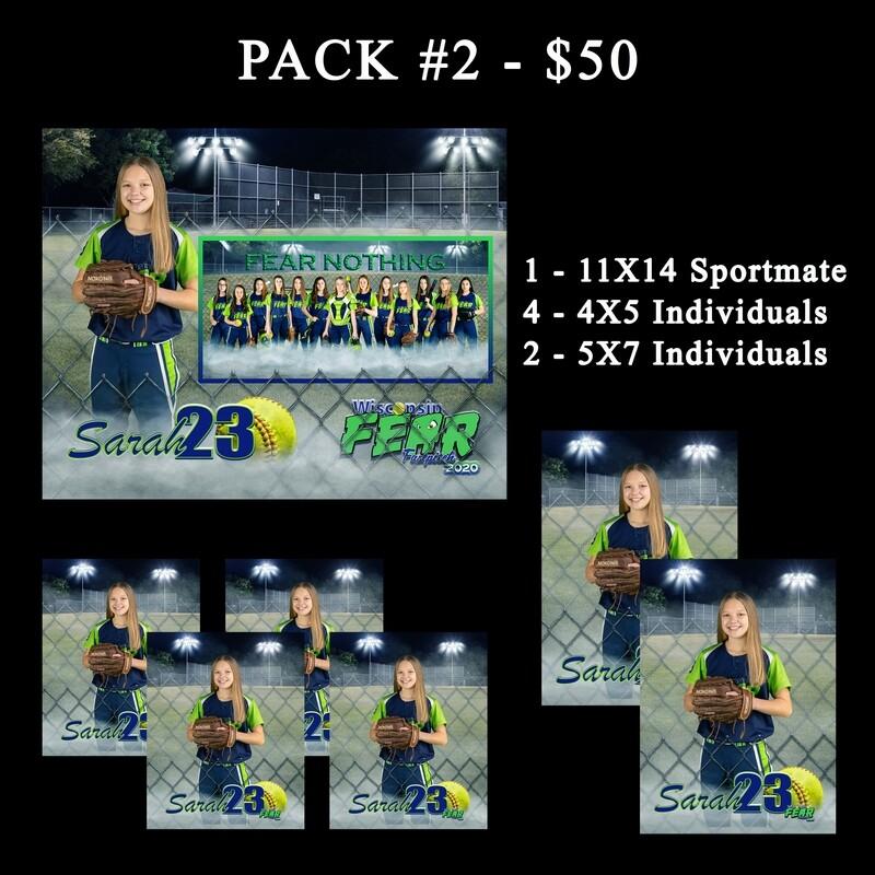 PACK #2 - 11X14 Sportmate Pack