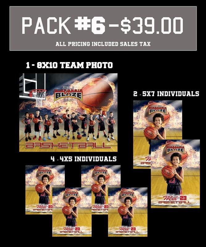 PACK #6 - **Best Value** 8x10 Teammate Pack