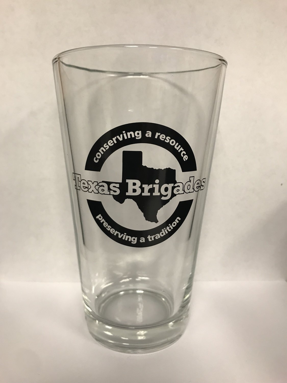 Texas Brigades Logo Pint Glass