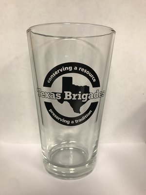 Texas Brigades Logo Pint Glass