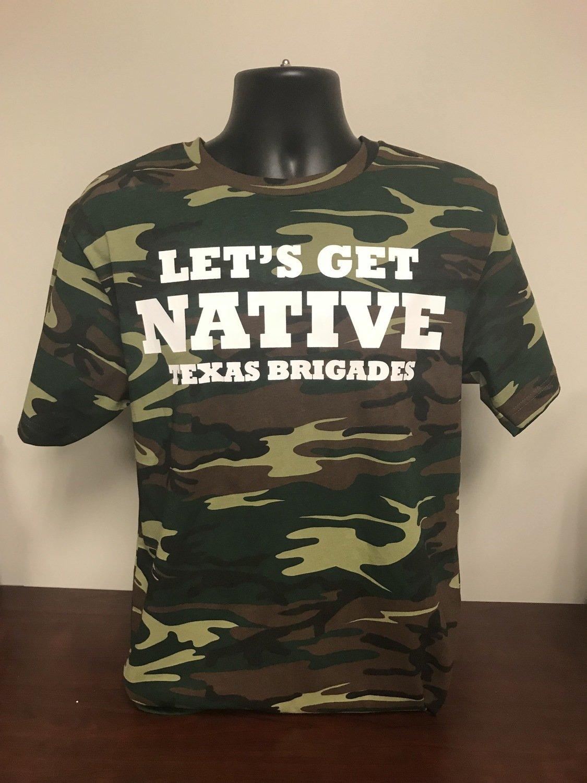 Let's Get Native Retro T-Shirt (LARGE)