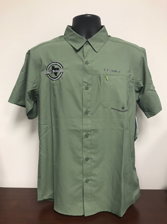 Men's Columbia Short Sleeve Shirt (LARGE)